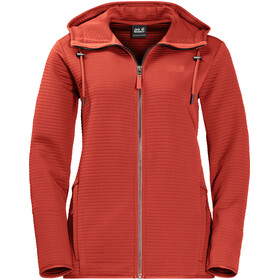 Jack Wolfskin Modesto Hooded Jacket Women volcano red